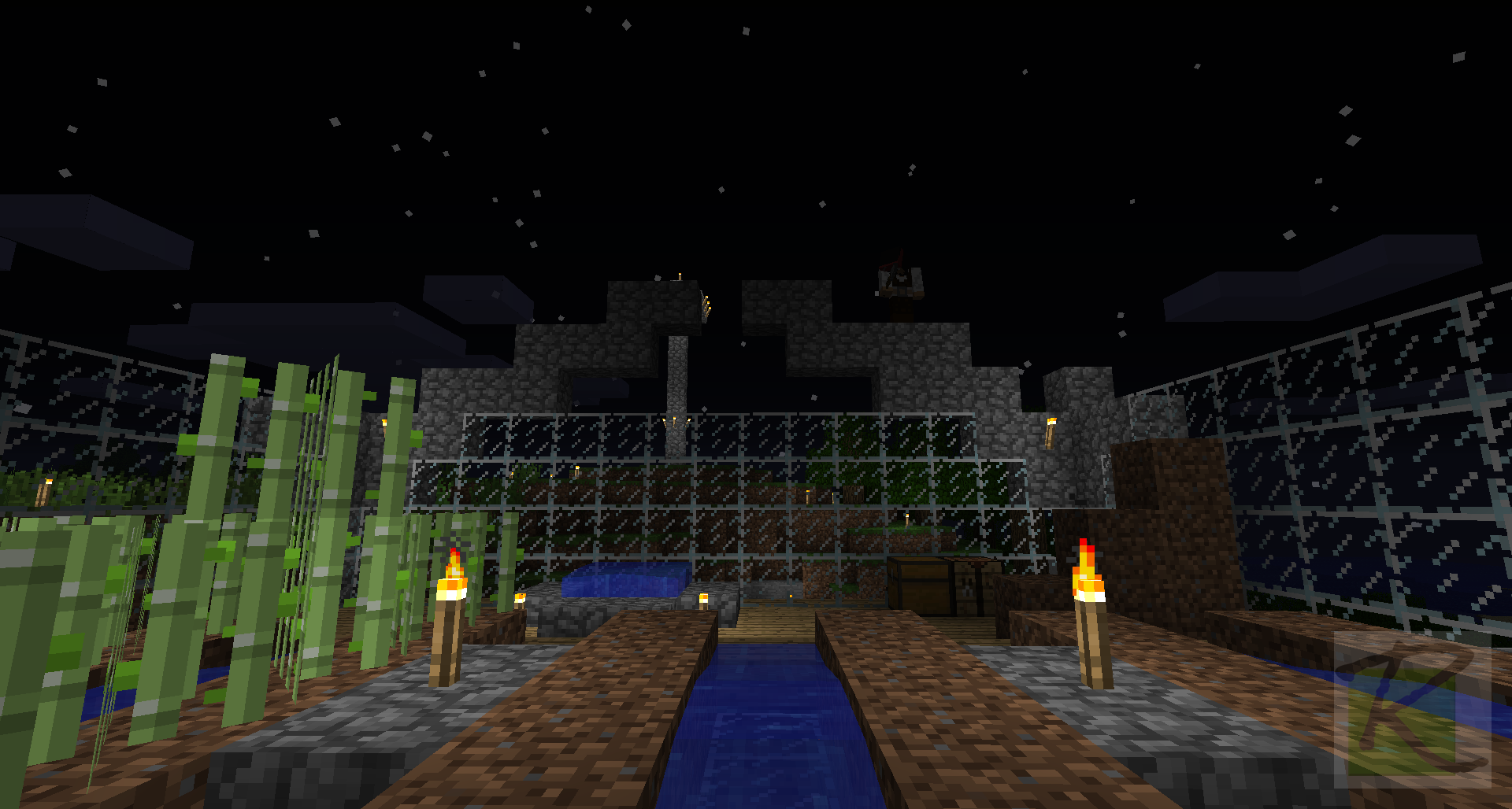 Building Stone Arches for Greenhouse Roof   Minecraft Screenshots- A