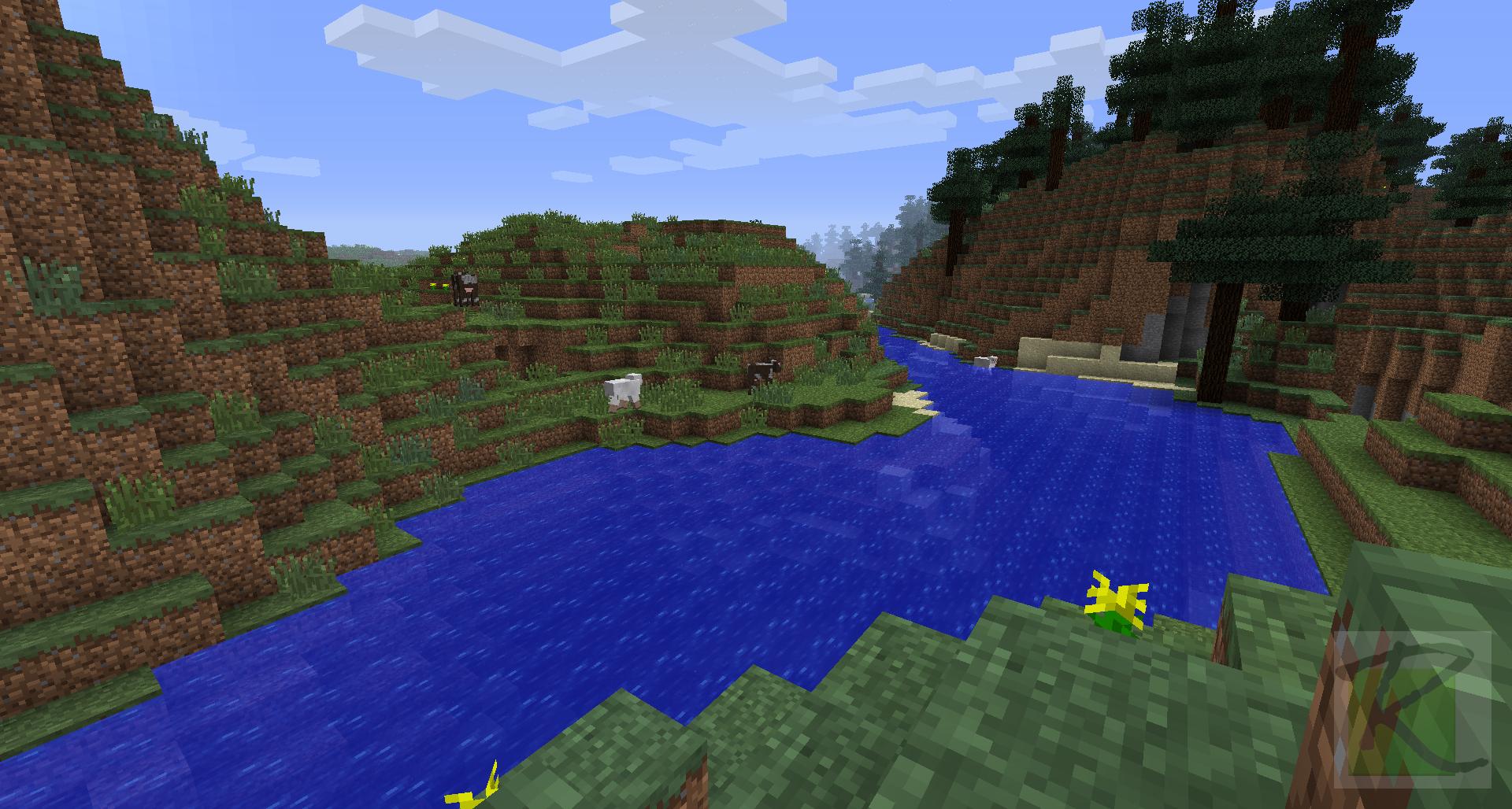 Rivers In Minecraft Landscape Minecraft Screenshots A Visual