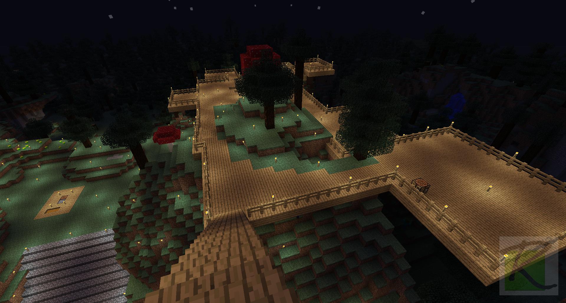 Hill-top Balconies and Garden  Minecraft Screenshots- A visual