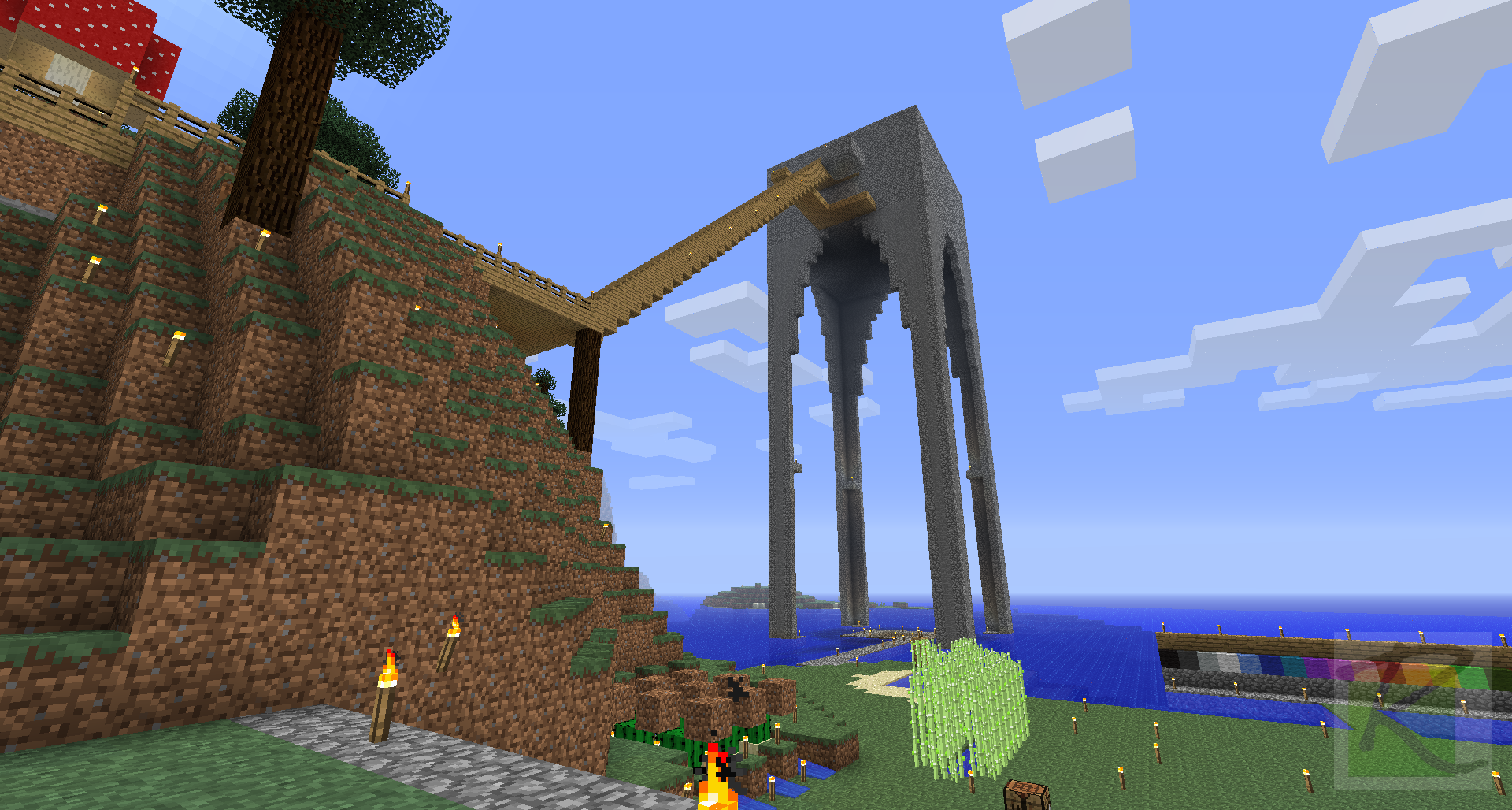 Giant Mob Spawner Room Tower Close To Completion Minecraft