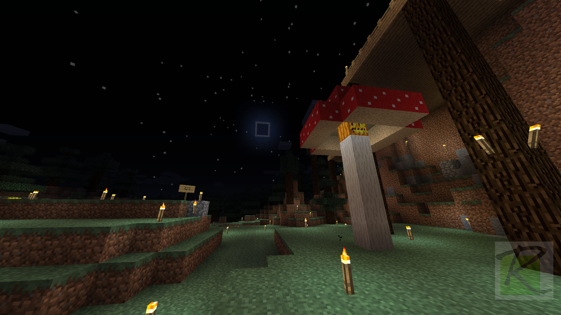 new moon behind pumpkin sombrero minecraft screenshots a visual